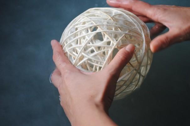 和紙ボールの漉き直し