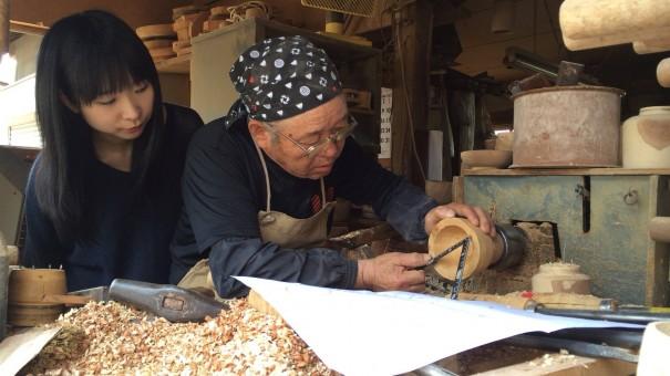 aeru『福井県から 越前漆器の はじめての汁椀』職人製作風景