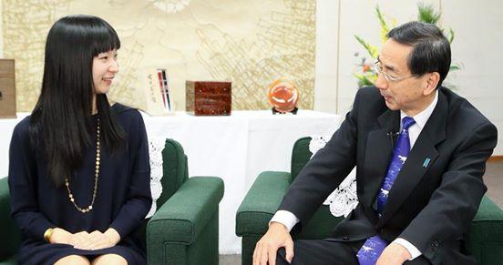 福井県知事との対談の様子