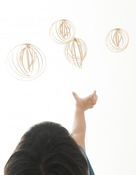 『大分県から 竹細工の ベッドメリー』