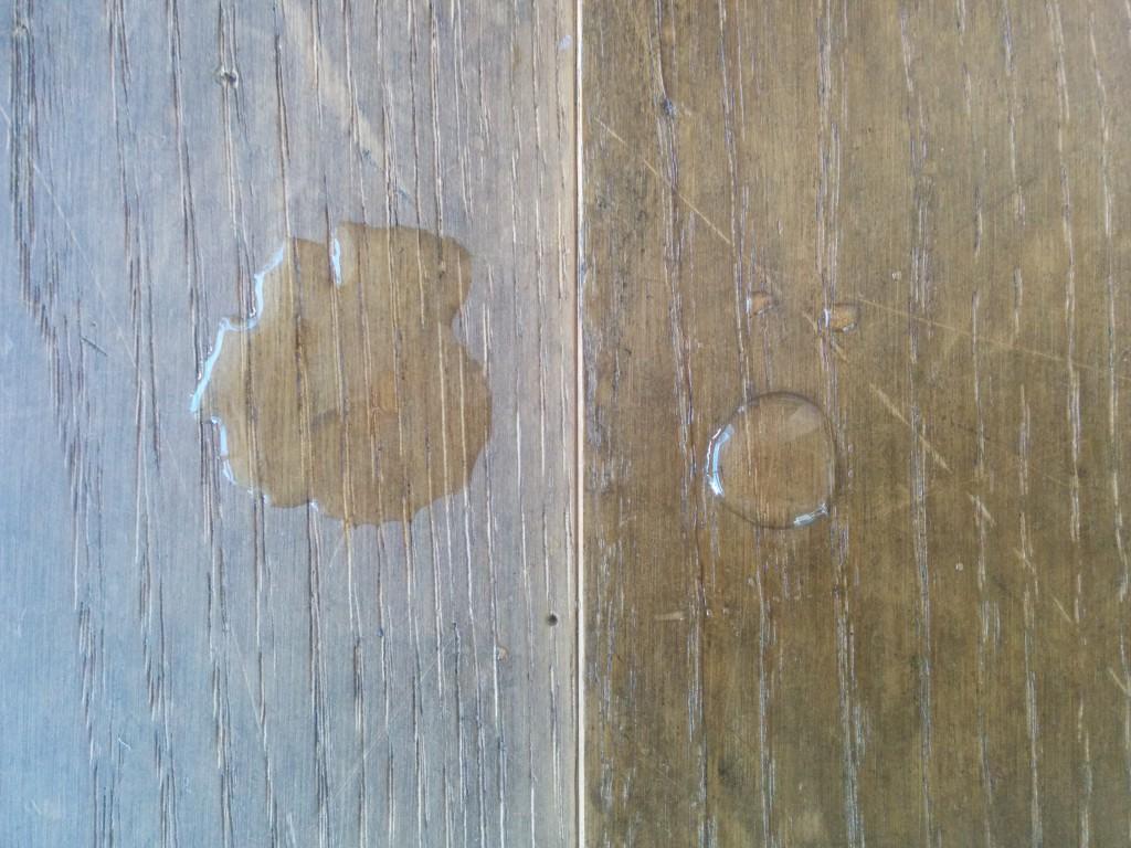 みつろうクリーム塗布前後の比較