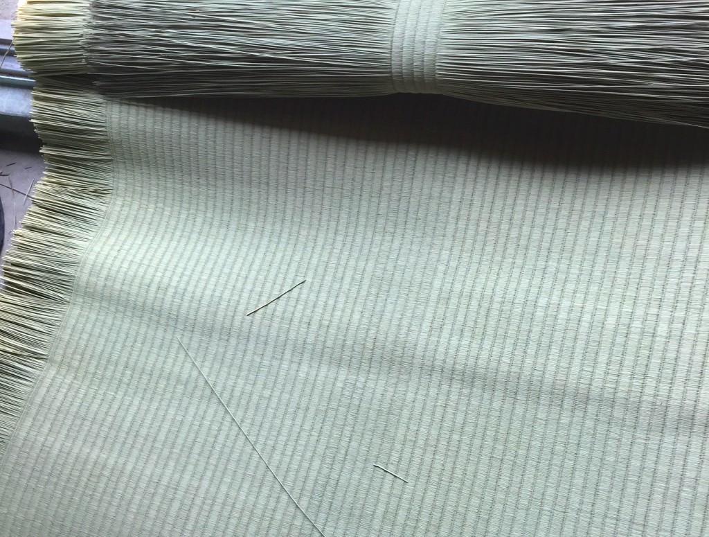 備後畳の編み目