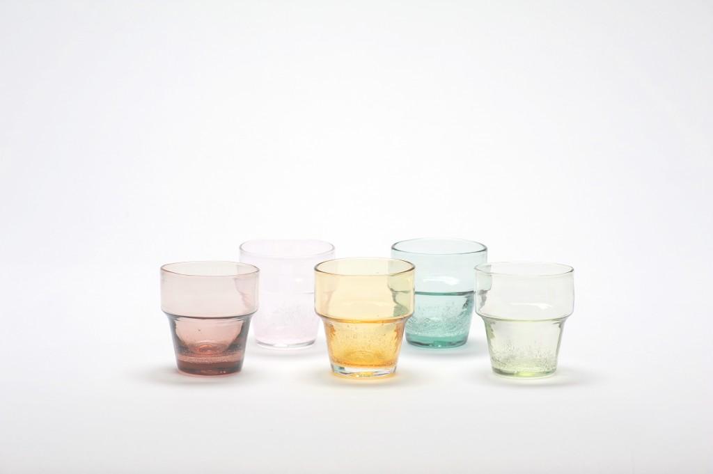 琉球ガラスのこぼしにくいコップ