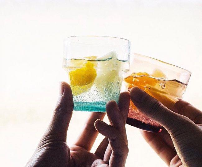 琉球ガラス こぼしにくいコップ