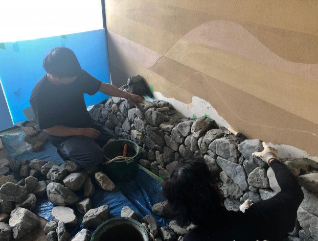 奈良aeru room お部屋で石を積む