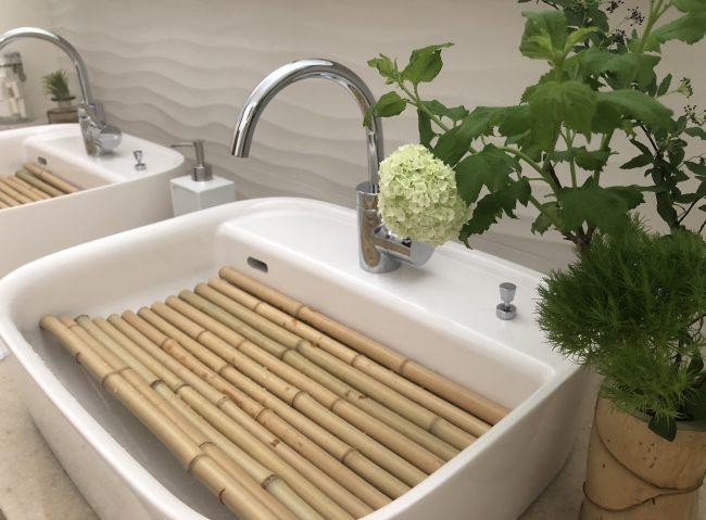 デザオ建設「とこしえ」春の展示 洗面所