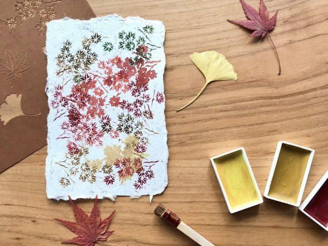 秋の伊勢型紙