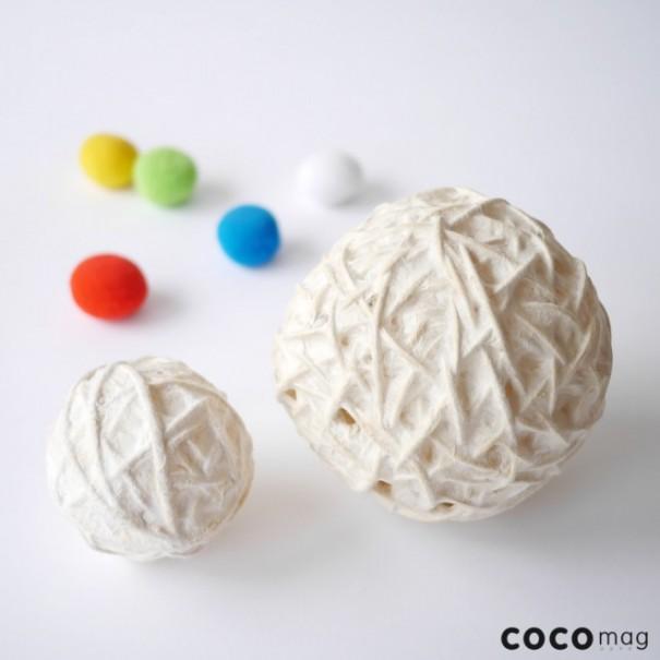 デコボコだけど柔らかそう、そんな不思議な球体