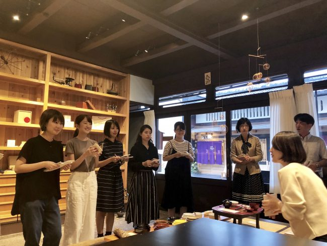 視察 京都市 わかもの就職支援センター 伊勢型紙
